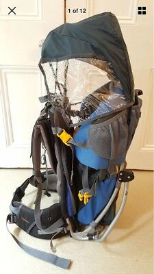 Deuter Kid Comfort II 2 Baby & Toddler Back Carrier with Raincover & Sunshade
