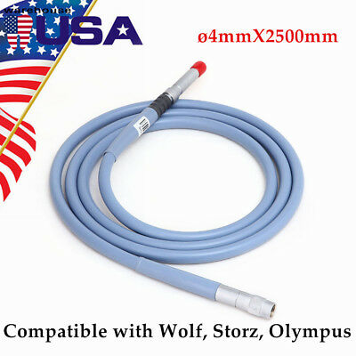 Fiber Optic Light Cable ø4mm X 2.5m Connector Fit for Storz Wolf Endoscope 2018