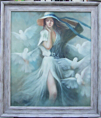 Very Large Original Oil Painting Figurative Contemporary