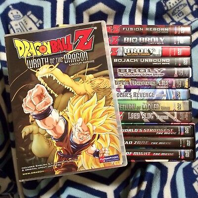 Dragon Ball Z Movies 13 DVD SET, Complete Collection, Broly, Trunks, DBZ