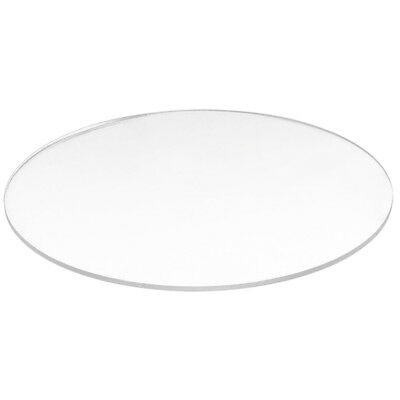 Transparent  3mm thick Mirror Acrylic round Disc Diámetro:200mm  K4X7
