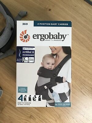 Ergobaby Four Position 360 Carrier - Performance Cool Air - Carbon Grey with box