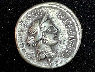 ROMAN C. ANNIUS WITH L. FABIUS HISPANIENSIS AR DENARIUS 3.07gr 17.3mm /919/TJ