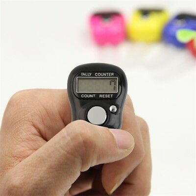 Mini Digit LCD Electronic Digital Golf Finger Hand Held Tally Row Counter MA