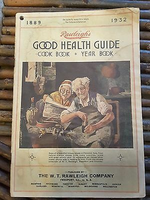 1932 RAWLEIGH'S GOOD HEALTH GUIDE ~ Cookbook ~Year Book~1932 Reference Material