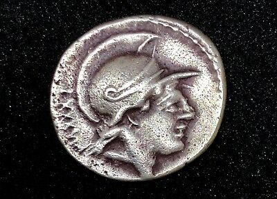 ROMAN REPUBLIC PUBLIES SATRIENUS 74 B.C. AR DENARIUS 2.64gr 15.7mm /903/TJ