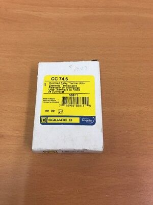 New Square D CC 74.6 Overload Relay Thermal Units