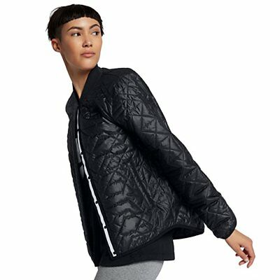 Nike Sportswear Women's Quilted Weather Resistant Jacket 854747 010 Black NWT