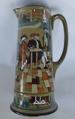 "BUFFALO POTTERY DELDARE WARE TANKARD PITCHER, ""The great Controversy"" 1908"
