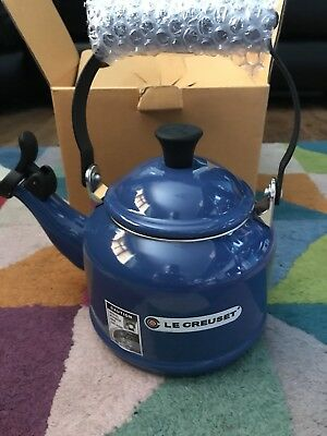 Le Creuset Traditional Stove Top Kettle 1.1L Blue NEW