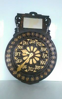 Antique Perpetual Calendar Arts and Crafts Period Trench Art