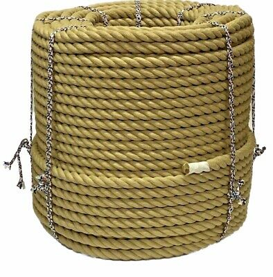 SYNTHETIC HEMP 25MTS x 28MM THICK FOR GARDEN DECKING ROPE POLY HEMP HEMPEX