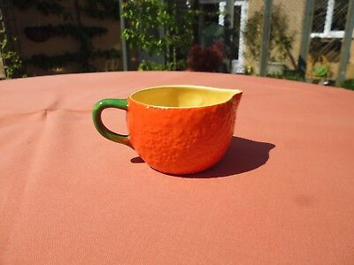 Vintage Carlton  Ware Orange Shaped Milk/cream  Jug 1930-1950's In V.g.c.
