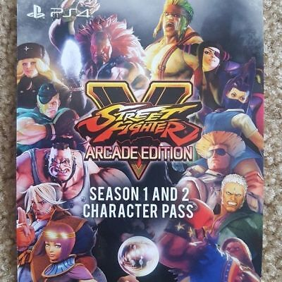 Street Fighter V 5 Arcade Edition Season 1 + 2 Character Pass ! US - Account PS4