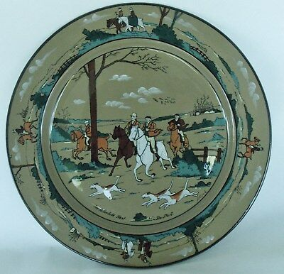 "BUFFALO POTTERY DELDARE WARE Charger Chop Plate ""The Fallowfield Hunt"" 1908"
