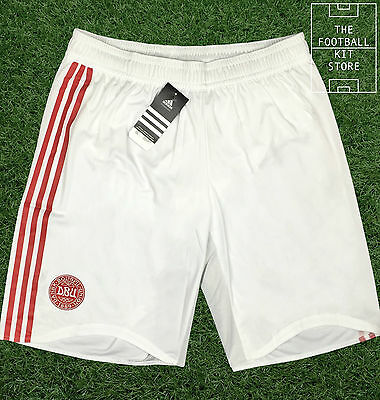 Denmark Home Shorts - Official Adidas Football Shorts - Extra Large