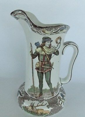 Great Buffalo Pottery Robin Hood Pitcher 1906, Very Good Condition