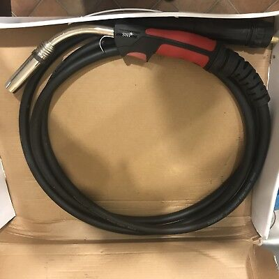 SWP Air Cooled M36 Binzel Compatible Mig Welding Euro Torch - 4 Metre Cable