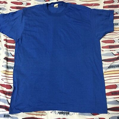 Vintage Men's Size XL Blank Blue Screen Stars T-shirt 50/50 Soft 80s DS NWOT