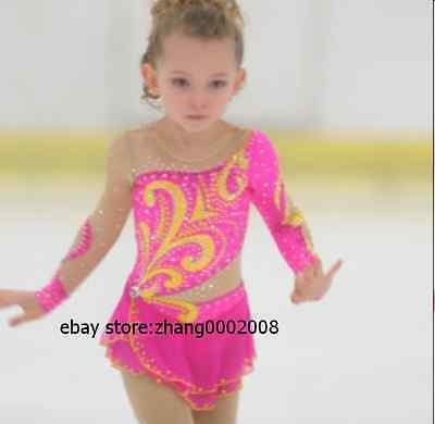Ice skating dress.Pink Competition Figure Skating dress. Baton Twirling custom