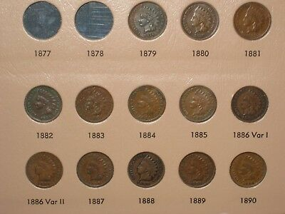 1879-1909 Indian Penny Collection Complete Run  Dansco Album  Most Full Liberty