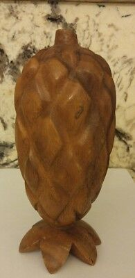 Pineapple Genuine PHILLIPINES Solid Wood Pineapple Monkey Pod vintage