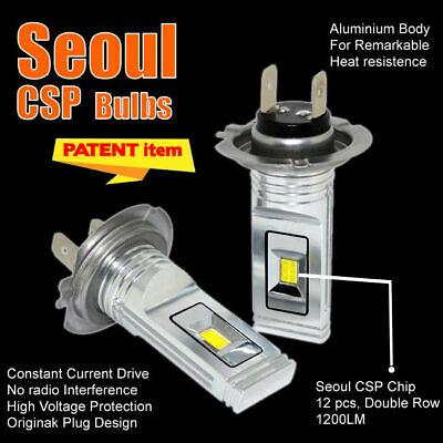 H1 H7 H3 H4 CSP Seoul 12 Chip LED Headlight Bulb Canbus Error Free White
