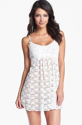 In Bloom By Jonquil White Stretch Lace Chemise Small Intimate Babydoll