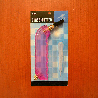 Pistol grip oil glass cutter