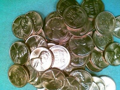 1958-D BU Lincoln Wheat Cent Roll 50 Coins (013)