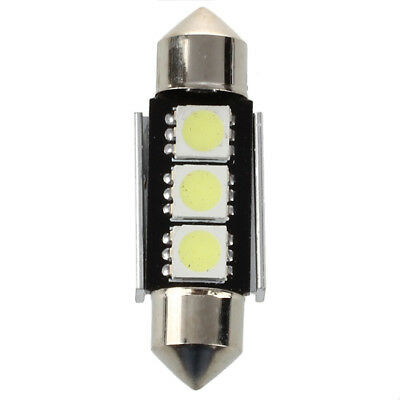 10X 36mm CANBUS Error Free 3 LED 5050 SMD 6418 C5W License Plate Dome Light K8S6