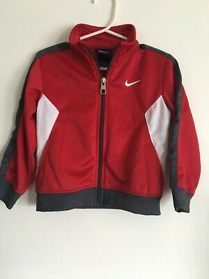 Nike Boys 24 month Red/White/Gray Full Zip Jacket