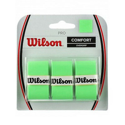 Wilson Pro Over Grip 3 pack Neon Green ! FREE FAST Postage. Federer choice!