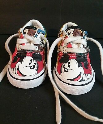 26a54738f9980c Disney Vans Mickey Mouse and Friends Shoes Toddler Kids Girls Boys Size 4