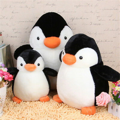 Lovely Penguin Stuffed Animal Plush Soft Toys Gift Doll Pillow Cushion 20cm  ^