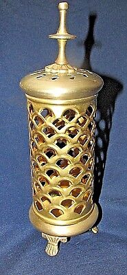 Antique Brass CANDLE HOLDER Ornament Middle Eastern Arabic Persian 22CmT
