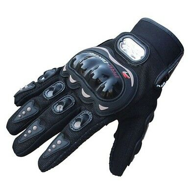 PRO BIKER 1Pair Rock Black Short Sports Leather Motorcycle Motorbike Summer K0K2
