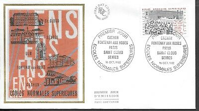 FR378) France 1982  Higher Normal Schools Silk FDC $4.00