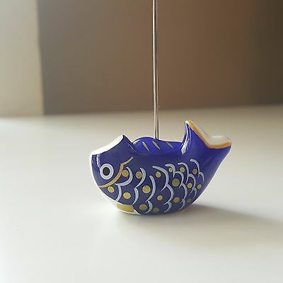 Stand Holder Photo Note Picture Clip Memo Stand Blue Carp Kawaii Japanese Style