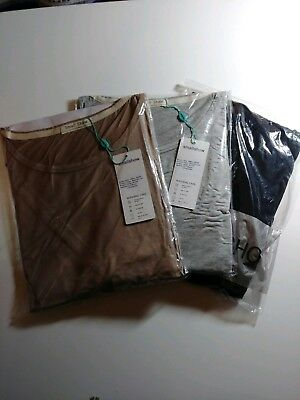 3 pack Small Show maternity and nursing top gray/light brown/black - size large