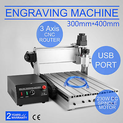 Usb Cnc Router Engraver Engraving Cutter 3 Axis 3040T-Dq Ball Screw 230W 3D