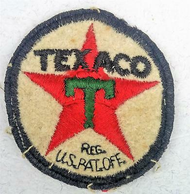 Vintage TEXACO Attendants Uniform Embroidered Patch Rare Patent Lettering