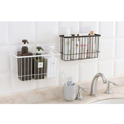 Stainless Steel Shower Caddy Basket Rack Tray Shelf Lock Suction Cup Bathroom