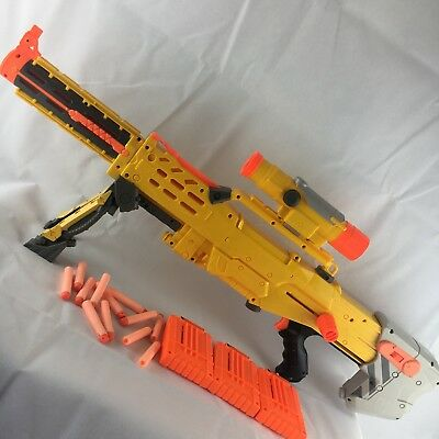Nerf N Strike Longshot CS-6 Sniper Rifle Complete Good Condition