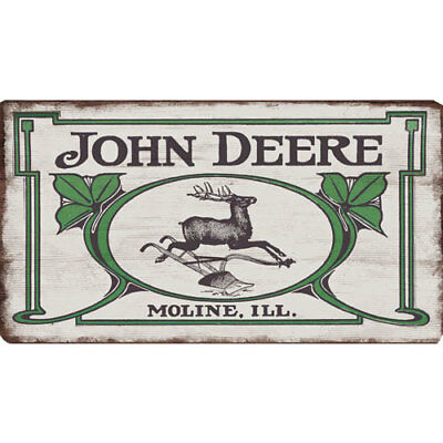 John Deere 90152556 Open Road Brands Mdf Flat Sign Vintage Logo<