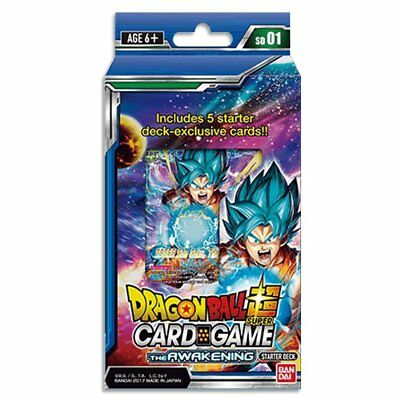 Dragon Ball Super TCG The Awakening Starter Deck Play sheet + Rule sheet