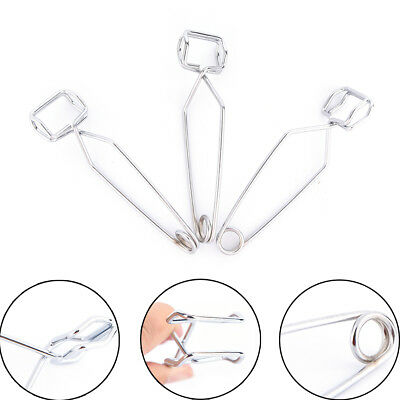11.5CM Clamp Heating Glass Tube Tongs Supplies Lab Test Tube Holder Sprung TooZN
