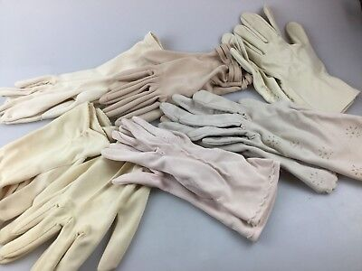 Vintage - 7 Sets Of Gloves - All Beige Colour Very Elegant - Small Size