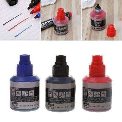12ml Permanent Marker Refill Ink Permanent New For Marker Pen Black Red Blue Ink
