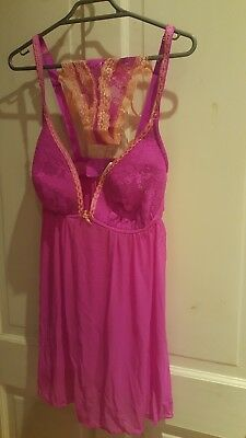 New Pink Lacy Stretchy Cami/Teddie Size 36D cup